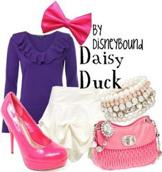 DisneyBound - Daisy Duck.  Cute