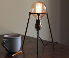 Industrial science lamp gift steampunk desk by OBJECTSofINDUSTRY
