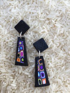 Bettina Welker's retro canes are used for these earrings.