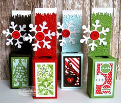 Cards by Kerri: Taylored Expressions Sneak Peeks: You've Been Framed-Christmas and Mischief Maker Pilgrim Uses TE Test Tube Caddy die and You've Been Framed. Christmas Gift Box, Christmas Store, Christmas Sweets, Simple Christmas, Christmas Crafts, Xmas, Test Tube Crafts, Crafts To Do, Paper Crafts