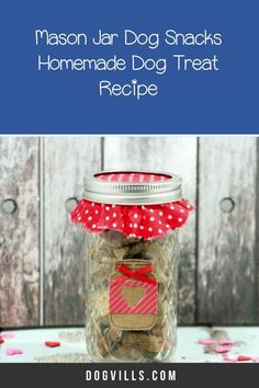 These mason jar dog snacks aren't just easy to make, with the added jar they're also great for giving to fellow doggie parents!