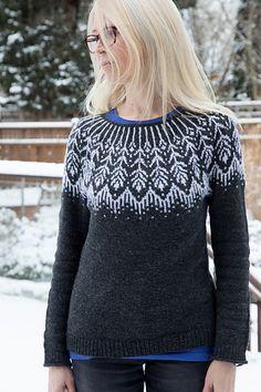 Ravelry: Sonrae pattern by Jennifer Steingass Casual Sweaters, Sweaters For Women, Punto Fair Isle, Sport Weight Yarn, Sweater Knitting Patterns, Work Tops, Stockinette, Sweater Design, Wool Blend