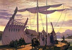Ted Nasmith: Departure at the Grey Havens