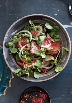 Easy Vietnamese Recipes - Warm beef and watercress salad