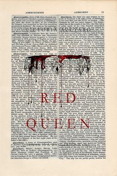 Red Queen by Victoria Aveyard Print Wall Art on a by CartabanCards