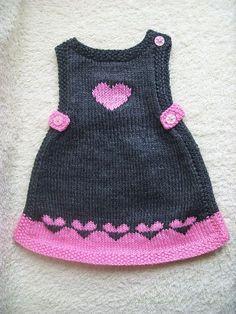 Ideas Crochet Cardigan Pattern Girls Baby Sweaters For 2019 Baby - Diy Crafts - DIY & Crafts Crochet Baby Sweaters, Baby Cardigan Knitting Pattern, Knitted Baby Clothes, Baby Knitting Patterns, Girls Knitted Dress, Knit Baby Dress, Knitting For Kids, Easy Knitting, Baby Dress Patterns