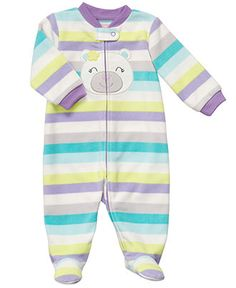 Carter's Baby Coverall, Baby Girls Multi-Color Stripe Coverall - Kids Newborn Shop - Macy's