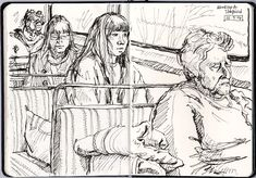 I often get emails from people who've seen my train drawings, asking for advice on how to go about sketching strangers in public. ...