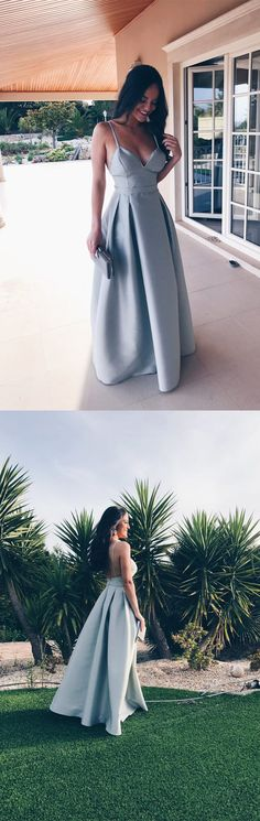 straps blue long prom dress homecoming dress, 2017 blue long homecoming dress prom dress evening dress