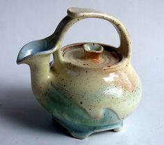M.Wein Shino/celadon teapot cone 10 porcelain