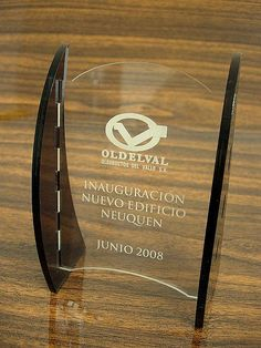 Desktop award interior sign
