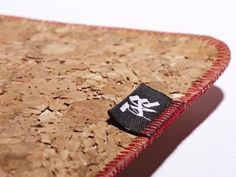 Sustainable, eco-friendly Ryan Frank Cork Cell Phone Pouch  and Laptop Sleeve