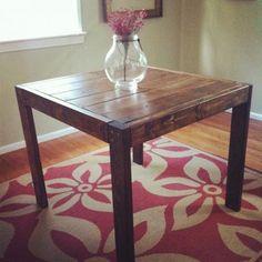 2x6 and 2x4 DIY modern farmhouse table