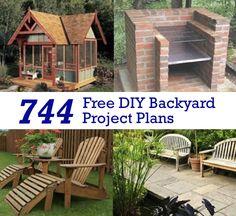744 Free DIY Backyard Project Plans...http://homestead-and-survival.com/744-free-diy-backyard-project-plans/