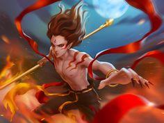 Nezha by leejun35 on DeviantArt Teen Web, Vampire Hunter D, Chinese Mythology, Devian Art, Vampire Girls, New Gods, Fantasy Male, Angel Of Death, Scott Pilgrim
