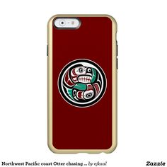 Northwest Pacific coast Otter chasing Salmon Incipio Feather® Shine iPhone 6 Case