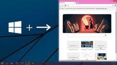 Hướng dẫn sử dụng tính năng Snap trên Windows 10 bằng phím tắt | http://www.mrquay.com/2014/11/huong-dan-su-dung-tinh-nang-snap-tren-windows-10-bang-phim-tat.html