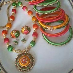 colorful silk thread set