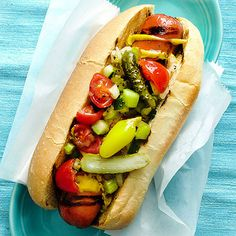 Chicago-style hot dog recipes can be found outside of the Windy City. In fact, thanks to this Chicago hot dog recipe, you can find the fully-loaded sausages in your own kitchen. Hot Dogs, Chicago Hot Dog, Chicago Style, Chicago Chicago, Chicago Bears, Hamburgers, Potluck Recipes, Cooking Recipes, Burger Dogs