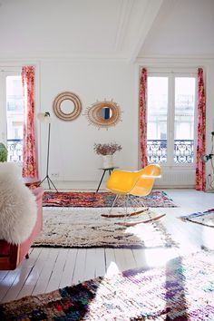Boucherouite plus Beni Ourain rugs Decor, Interior, Interior Inspiration, Home, Beautiful Interiors, Bohemian Modern Style, Home Deco, Urban Interiors, Interior Design