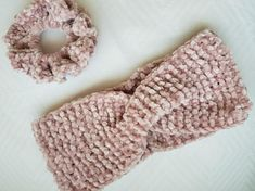 Beautifully hand knitted velvet headband with matching scrunchie. It is very warm and cozy and made in a pet-free, smoke-free home. Knitted with luxuriously soft 100% blush pink/purple velvet polyacrylic wool and the sizing is approximately 24 cm in length. Hand wash or machine wash at 30 degrees Purple Velvet, Pink Purple, Blush Pink, Swiss Design, 30 Degrees, Scrunchies, Warm And Cozy, Hand Knitting, Crochet Hats