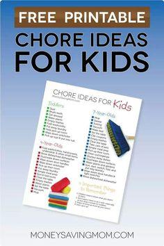 Chore ideas list