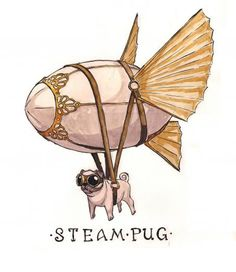 """Steampug emerges from the pea soup fog."" © 2011 Robin Latkovich"