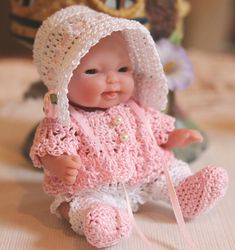 PDF PATTERN Crochet 5 inch Berenguer Baby Doll Sun by charpatterns
