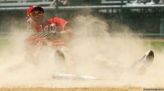 That's my Kinsey sliding into home plate! Freakin rock star!