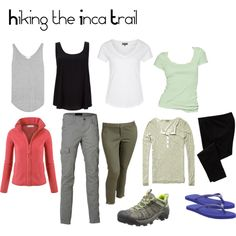 Inca Trail Hike (Machu Picchu, Peru) Packing List: 2 tanks, 2 tees, 2 comfy pants, leggings for sleeping in, 1 thermal shirt and 1 fleece plus a good pair of hi...
