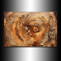 Modern Large Texture Metallic Abstract by newwaveartgallery