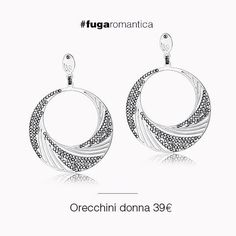 Orecchini in metallo e cristalli bianchi Luca Barra Gioielli. #orecchini #gioiellidonna #newcollection #lucabarra #fashion