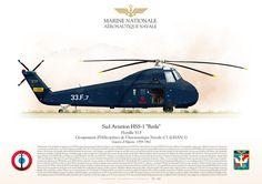 MARINE NATIONALE . FRENCH NAVYAÉRONAUTIQUE NAVALE Flottille 33.FGroupement d'Hélicoptères de l'Aeronautique Navale n°1 (GHAN-1)Guerre d'Algerie, 1959-1962