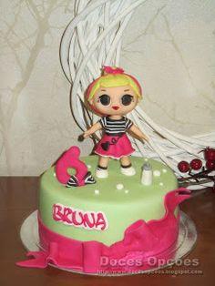 Doces Opções: Bolo de aniversário LOL Surprise! Lol, Cake, Desserts, Birthday Cakes, Sweets, Tailgate Desserts, Deserts, Kuchen, Postres