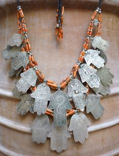 Hamsa hands/Hand of Fatima Necklace Nomadic Silver