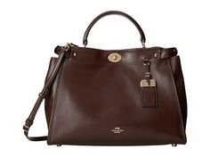 COACH Smooth Leather Gramercy Satchel Light/Red Currant - Zappos.com Free Shipping BOTH Ways