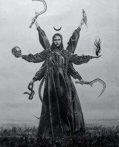 Slavic Tattoo, Winter Goddess, Manga Anime, Maleficarum, Psy Art, Arte Horror, Modern Artists, Fantasy, Gods And Goddesses