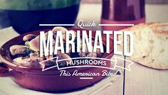 Marinated Mushrooms in red wine. A great side dish or Loved by meat eaters too. And it gives you an excuse to open a bottle of red while you cook ; Kosher Recipes, Gourmet Recipes, Appetizer Recipes, Appetizers, Vegan Recipes, Marinated Mushrooms, Stuffed Mushrooms, Israeli Food, Israeli Recipes
