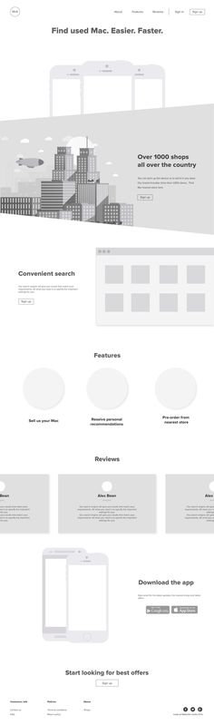 Great examples of digital wireframes