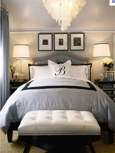 Master bedroom. This looks like a super nice hotel room. I love that in a bedroom :)