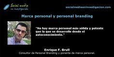 ¿Por qué un científico debería gestionar su marca personal? con Enrique F.Brull.  #MarcaPersonal #PersonalBranding #IdentidadDigital