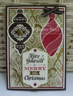 STAMPIN' UP! ORNAMENT KEEPSAKES FOR MERRY MONDAY #75