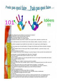 j'sais pas quoi faire 101 idées A4 Kids Playing, Bujo, Your Child, Challenges, Teaching, Activities, Children, Charades, Montessori