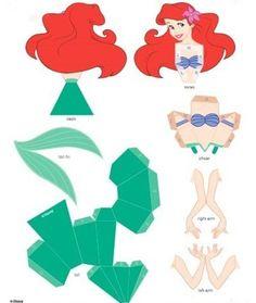 Drucken Sie sie aus und falten Sie zusammen mit Ihren Kindern eine dieser 8 3D Disney Prinzessinnen! - DIY Bastelideen