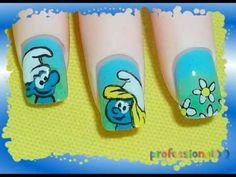 Smurf Nail Art-Tut