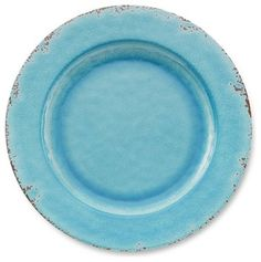 Rustic Melamine Dinner Plates, Turquoise traditional dinnerware