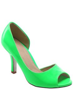 ROMWE | Peep Toes Heeled Green Shoes, The Latest Street Fashion #ROMWEROCOCO