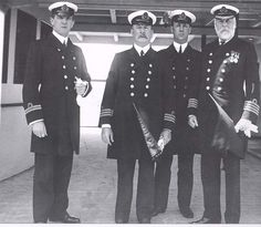 Crew Group Of Titanic (Captain on the right)