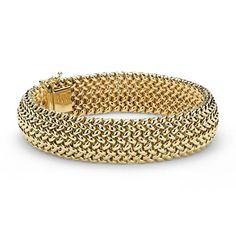 Mesh Bracelet in Gold 14k Yellow Gold