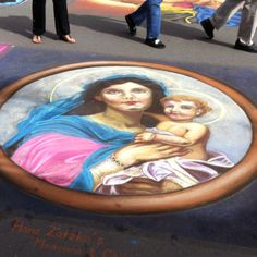 Sidewalk chalk art. Sarasota Fl